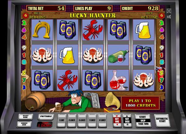 Игровой автомат Lucky Haunter - в казино Вулкан попробуй слоты Igrosoft