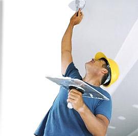 Шпатлевание гипсокартонного потолка